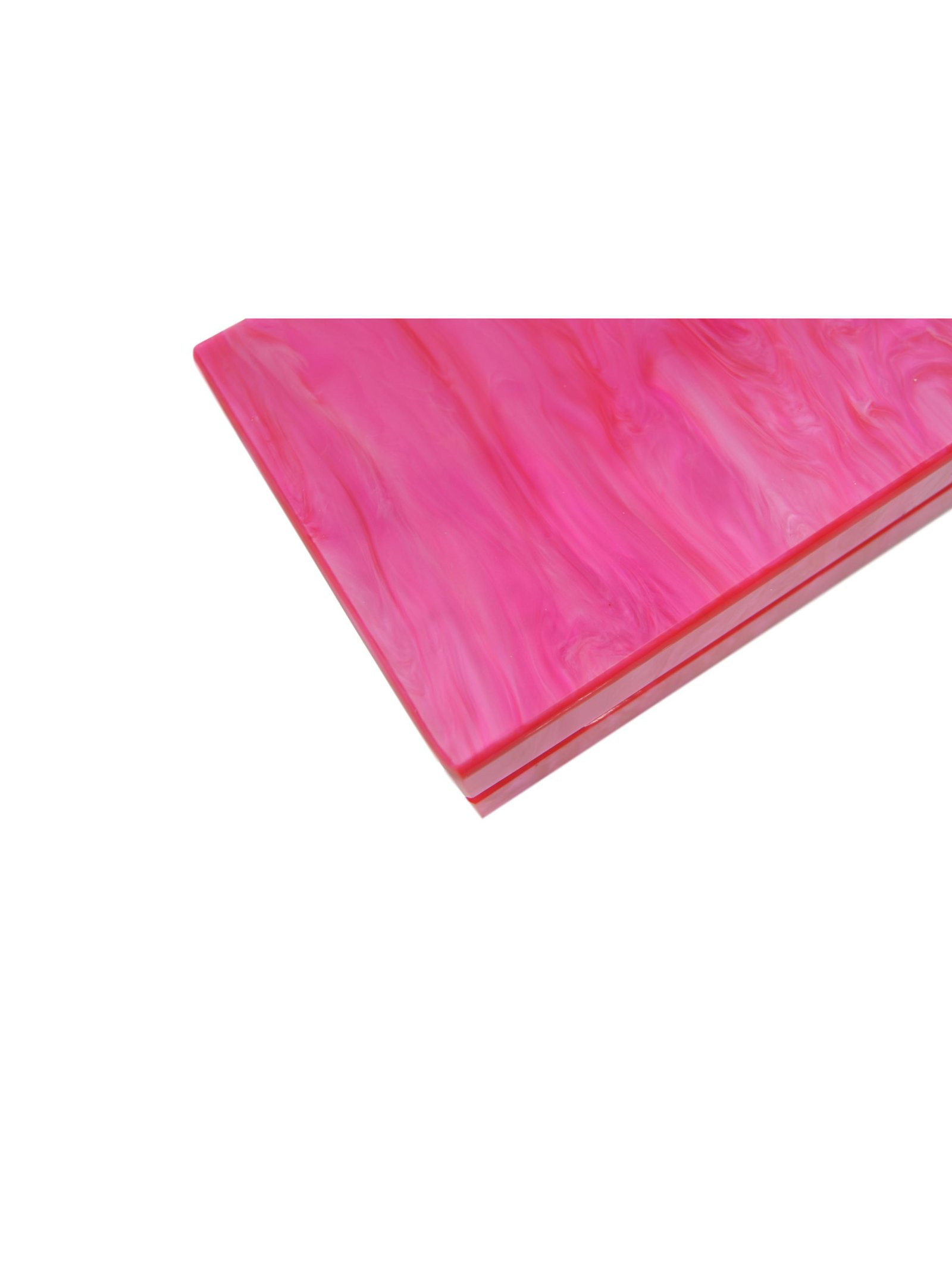 Milanblocks Electric Pink Acrylic Box Clutch