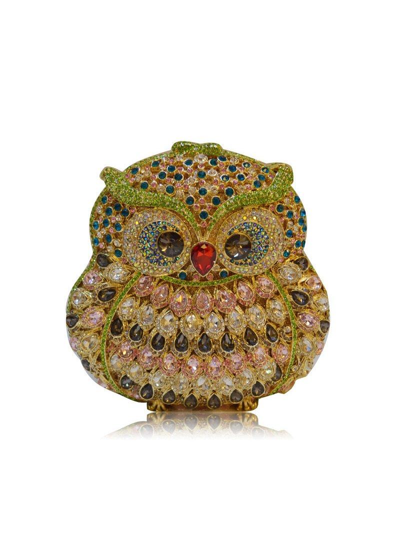 Milanblocks Owl Crystal Evening Clutch