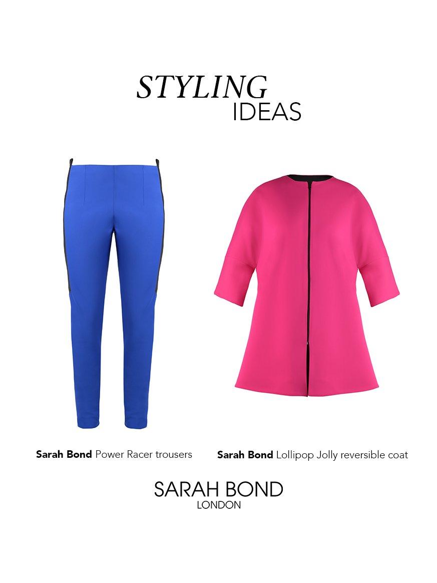 Sarah Bond Lollipop Jolly Reversible Coat Magenta